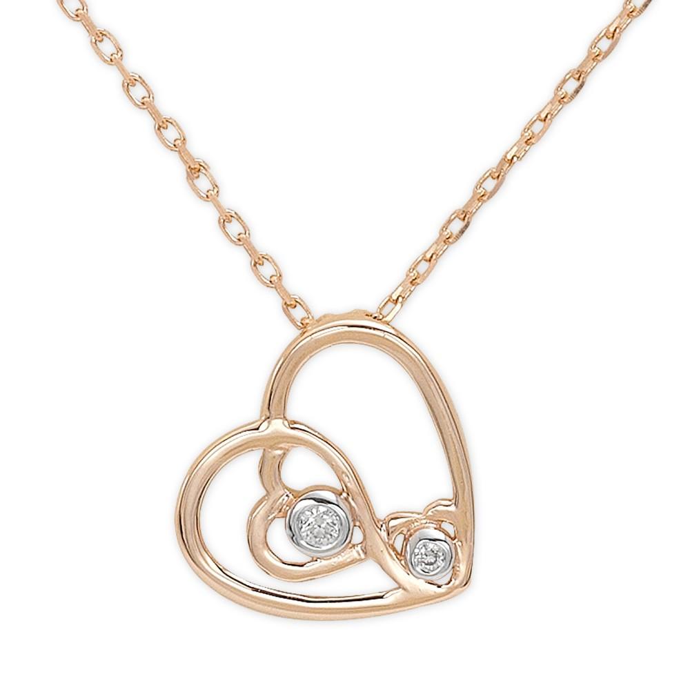 0,02 ct Diamant Herz Kette