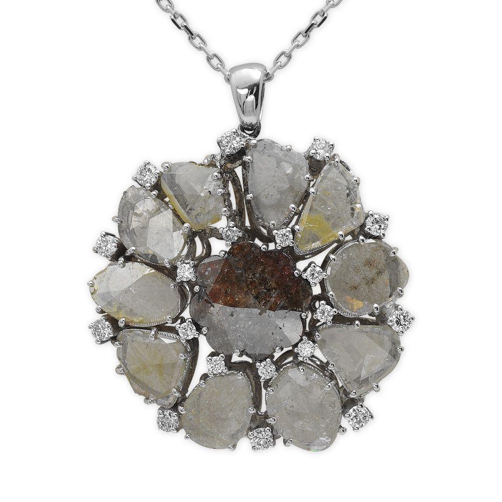 6,55 ct Fancy Diamant Kette