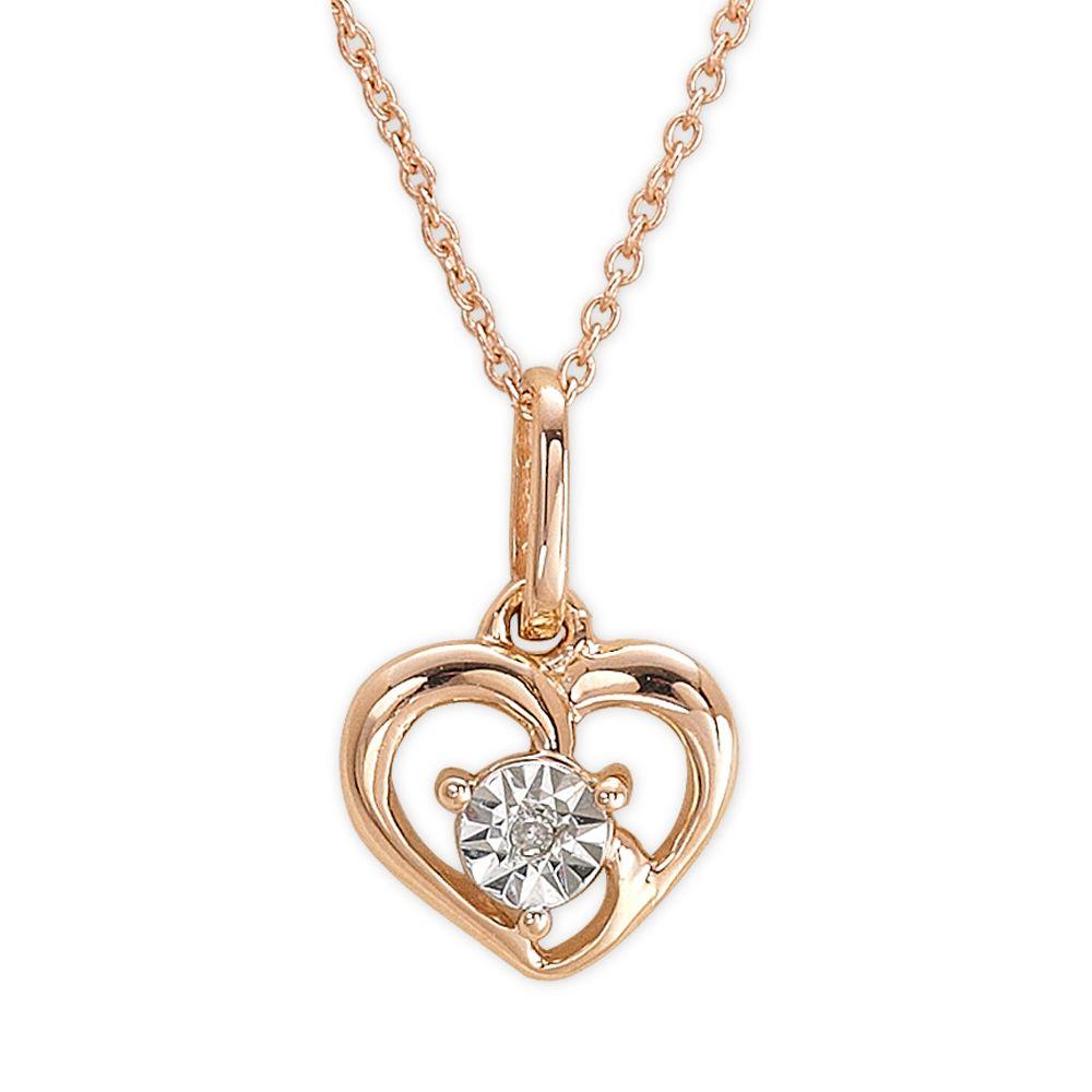 0,03 ct Diamant Herz Kette
