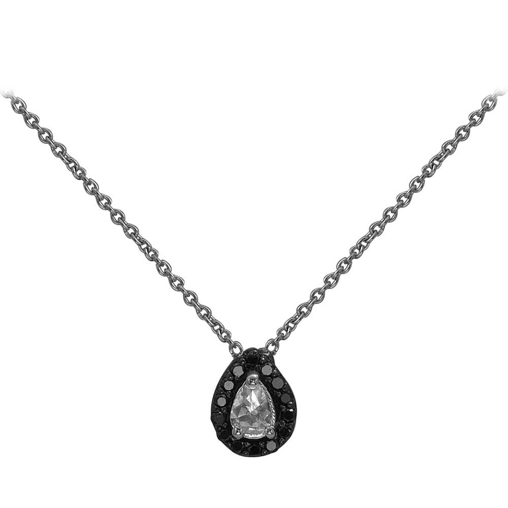 0,16 ct Schwarz Weiß Diamant Kette