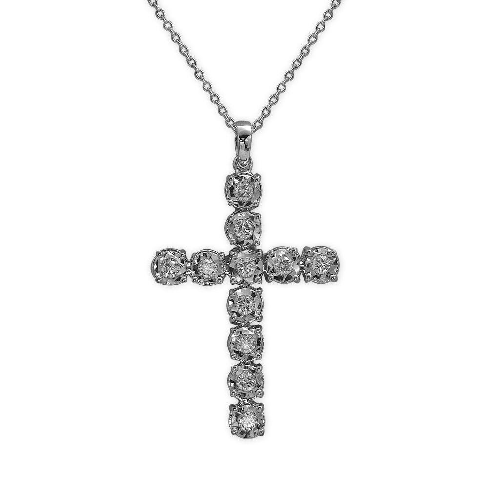 0,33 ct Diamant Miracle Kreuz Kette