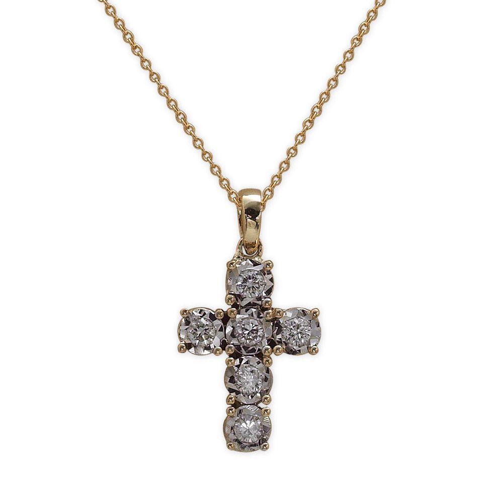 Diamant Kreuz Kette