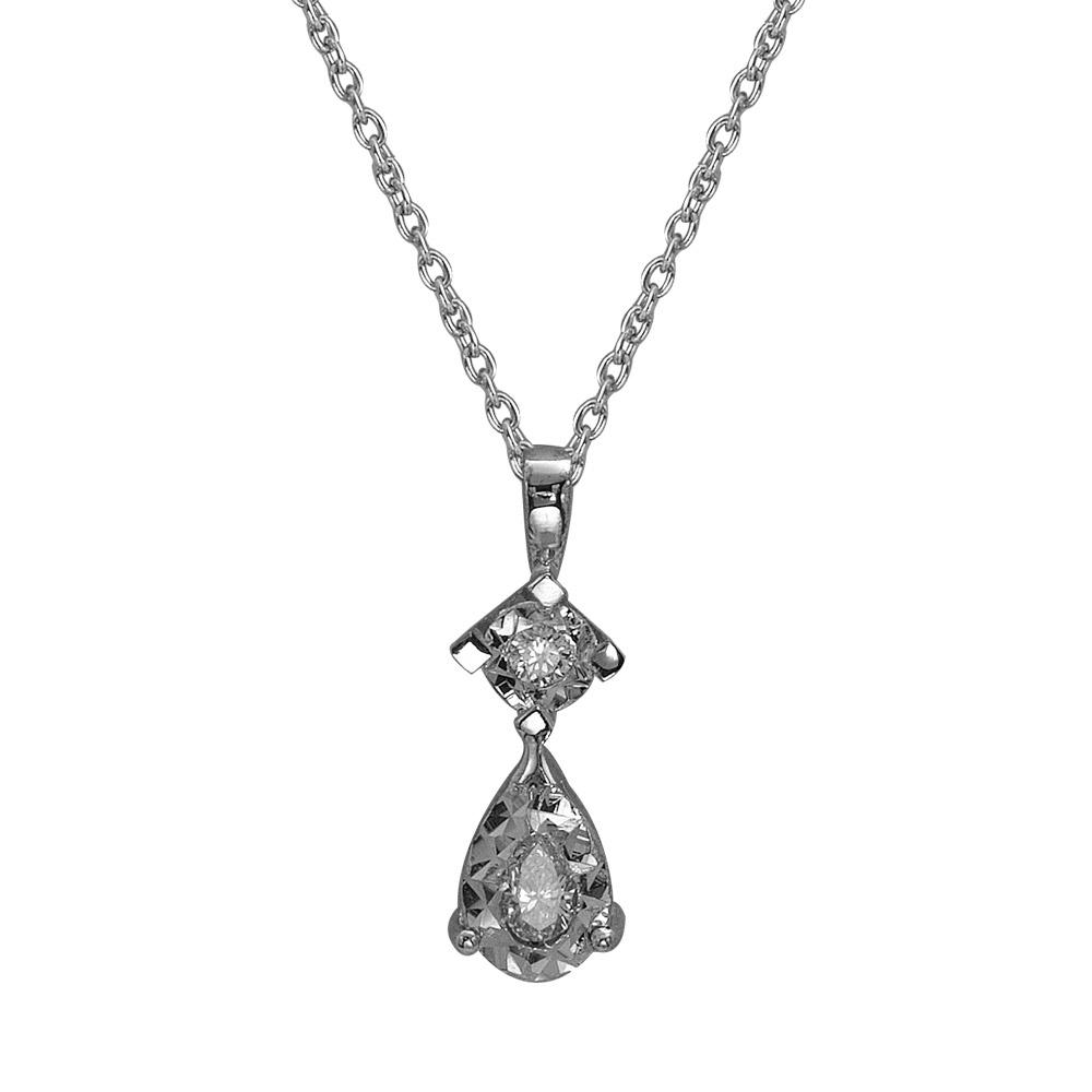 0,18 ct  Diamant Kette