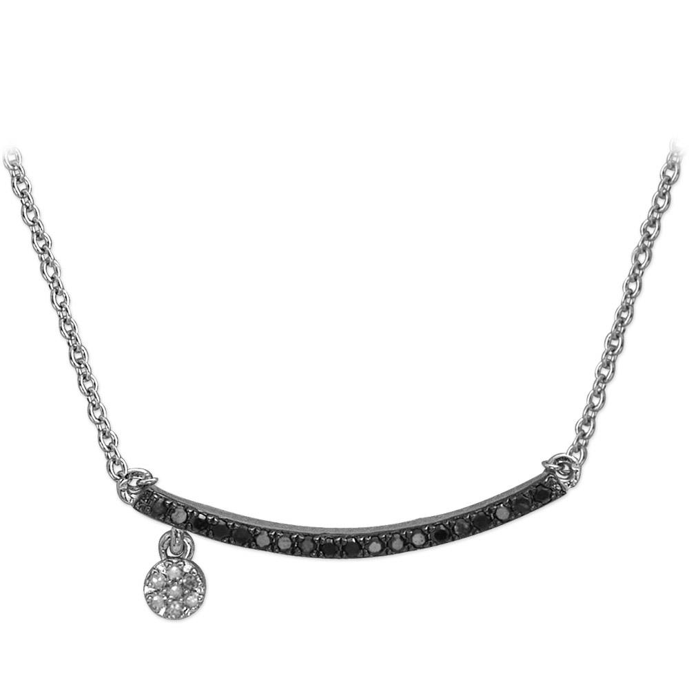 0,10 ct Schwarz Weiß Diamant Kette
