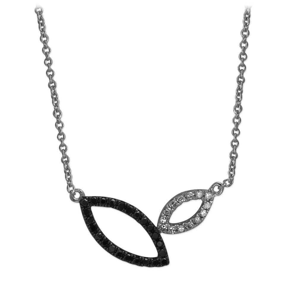 0,17 ct Schwarz Weiß Diamant Kette