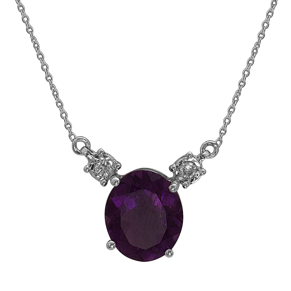 3,78 ct Amethyst Diamant Miracle Kette