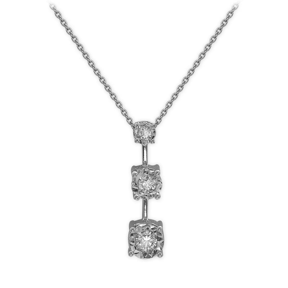 0,24 ct Diamant Miracle Tria Kette