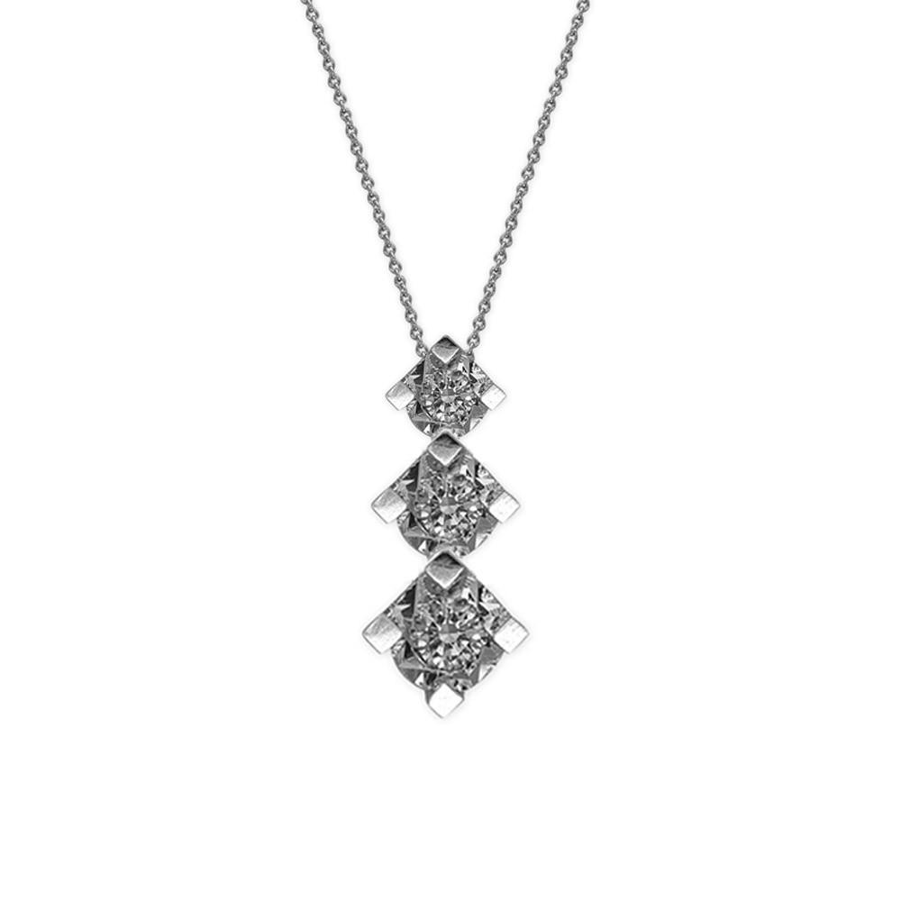 0,25 ct Diamant Tria Kette