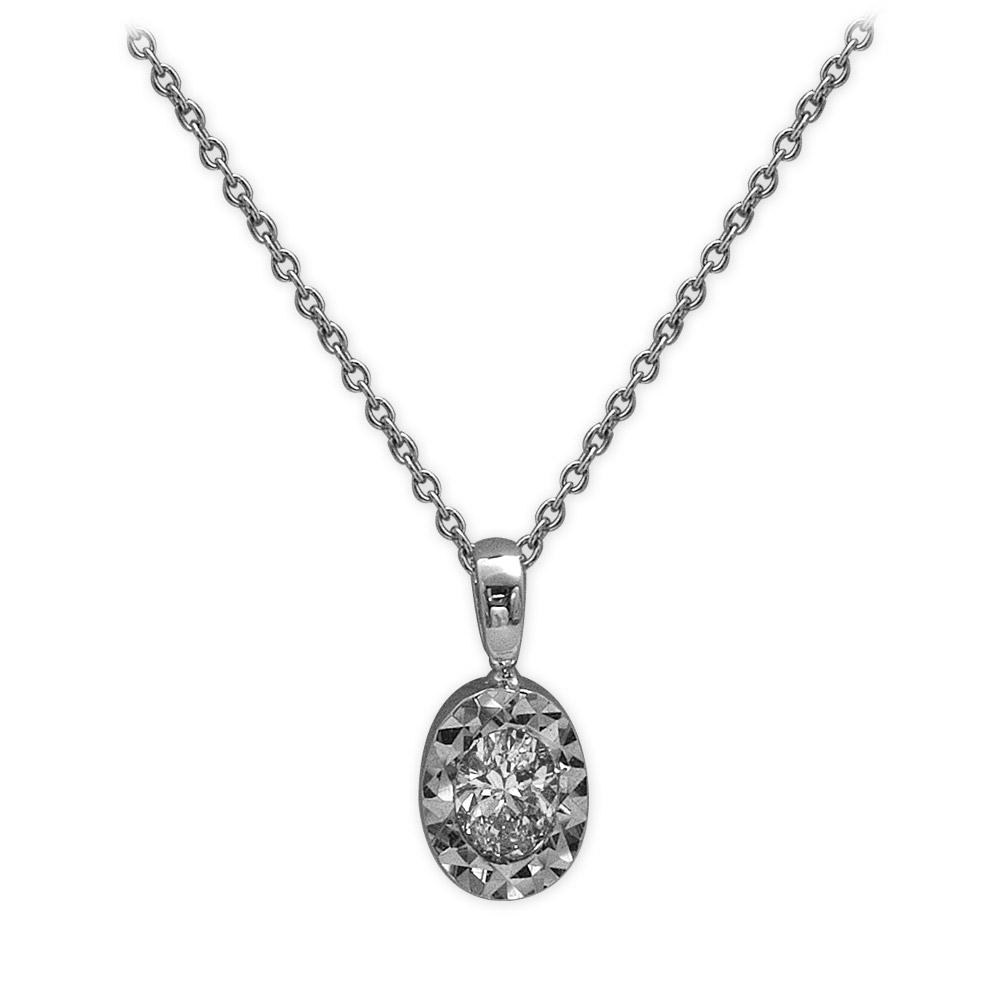 0,23 ct  Diamant Kette