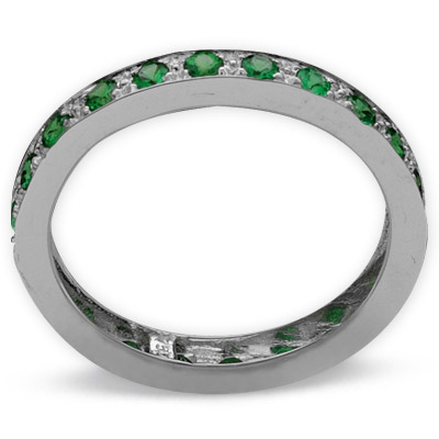 0,77 ct  Farbedelstein Ring