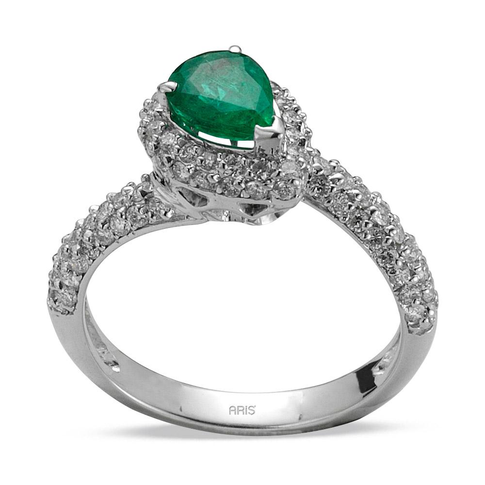 1,09 ct  Smaragd Ring