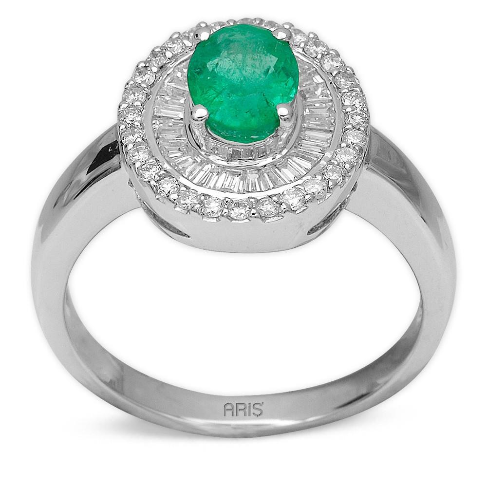 0,75 ct  Smaragd Ring