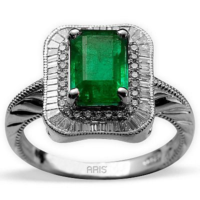 1,59 ct  Smaragd Ring