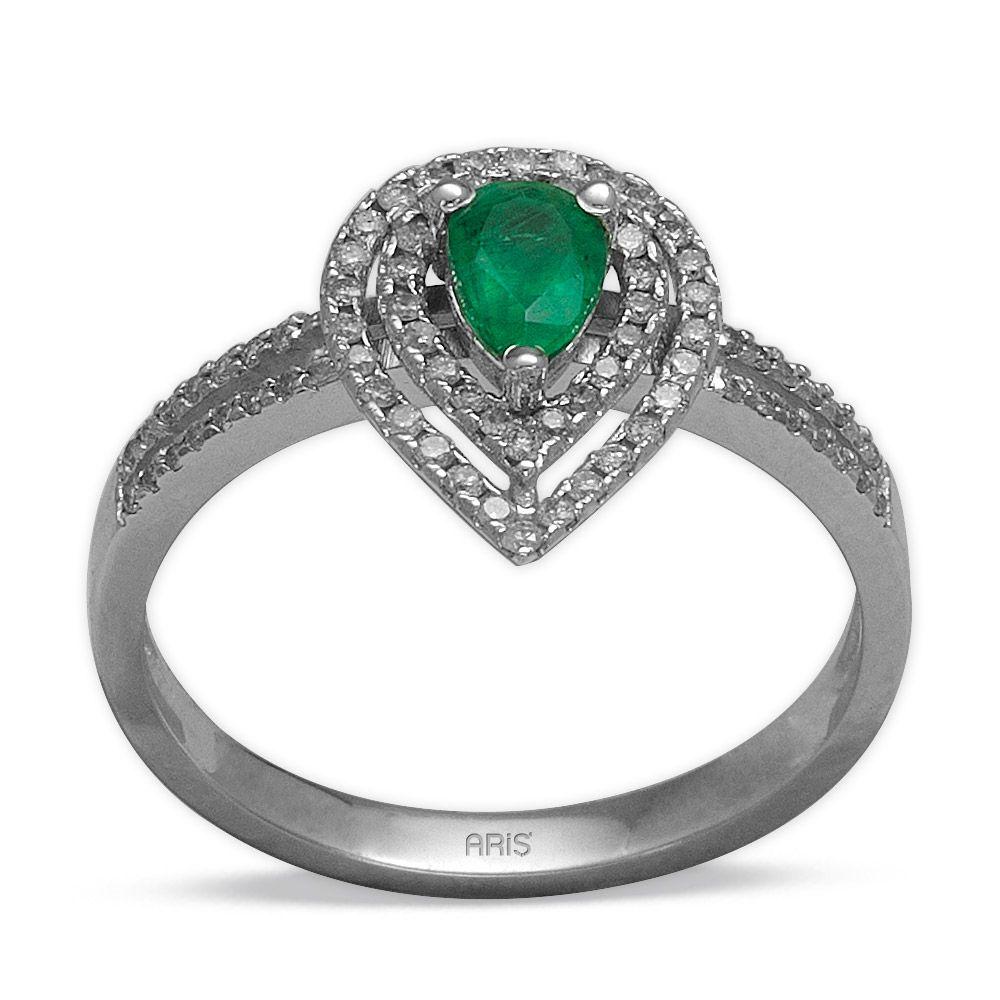 0,36 ct  Smaragd Ring
