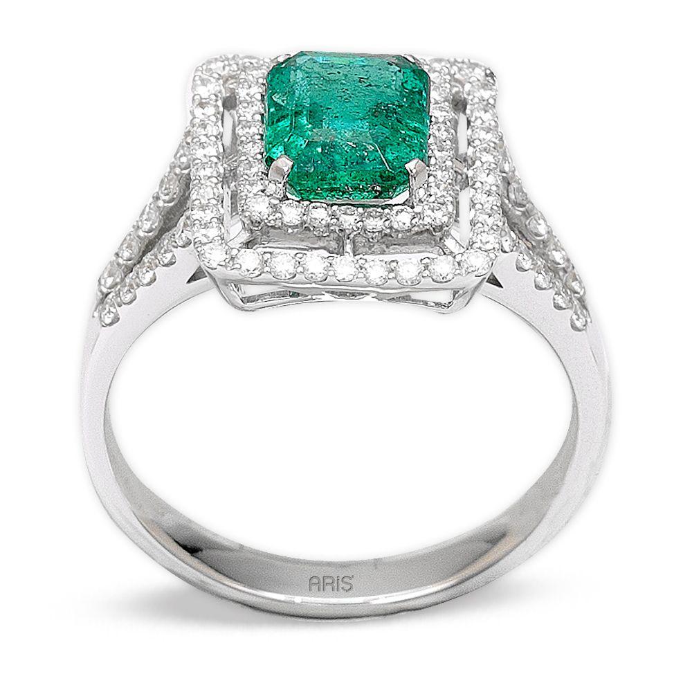 1,52 ct  Smaragd Ring