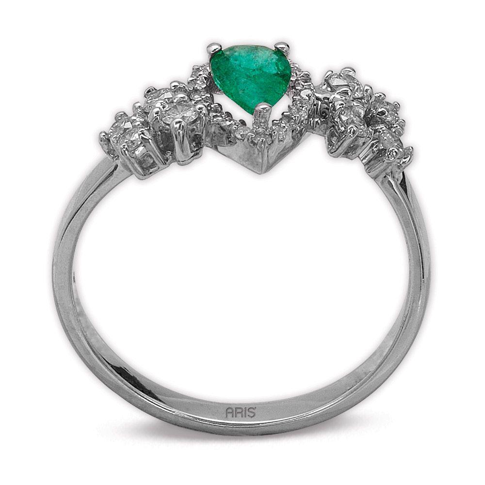 0,33 ct  Smaragd Ring
