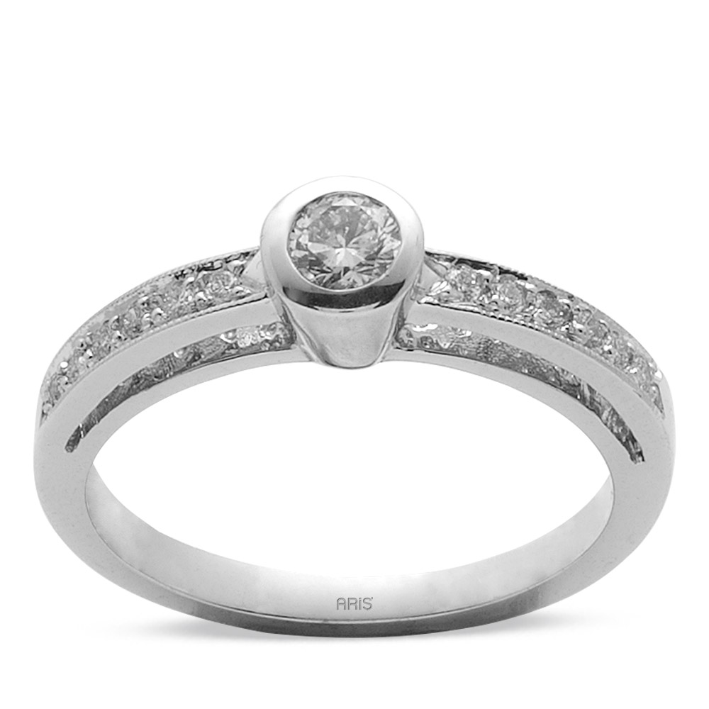 0,25 ct Diamant Solitärring