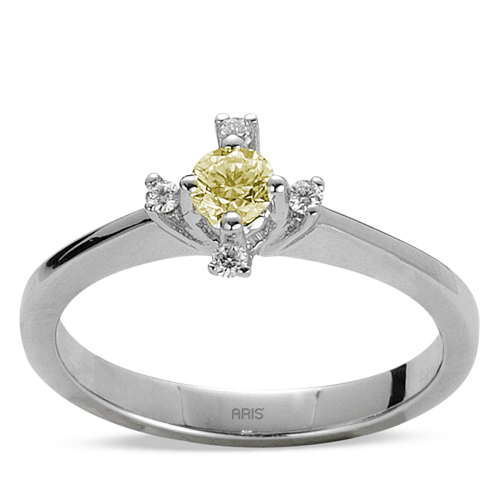0.28 ct  Fancy Diamant Ring