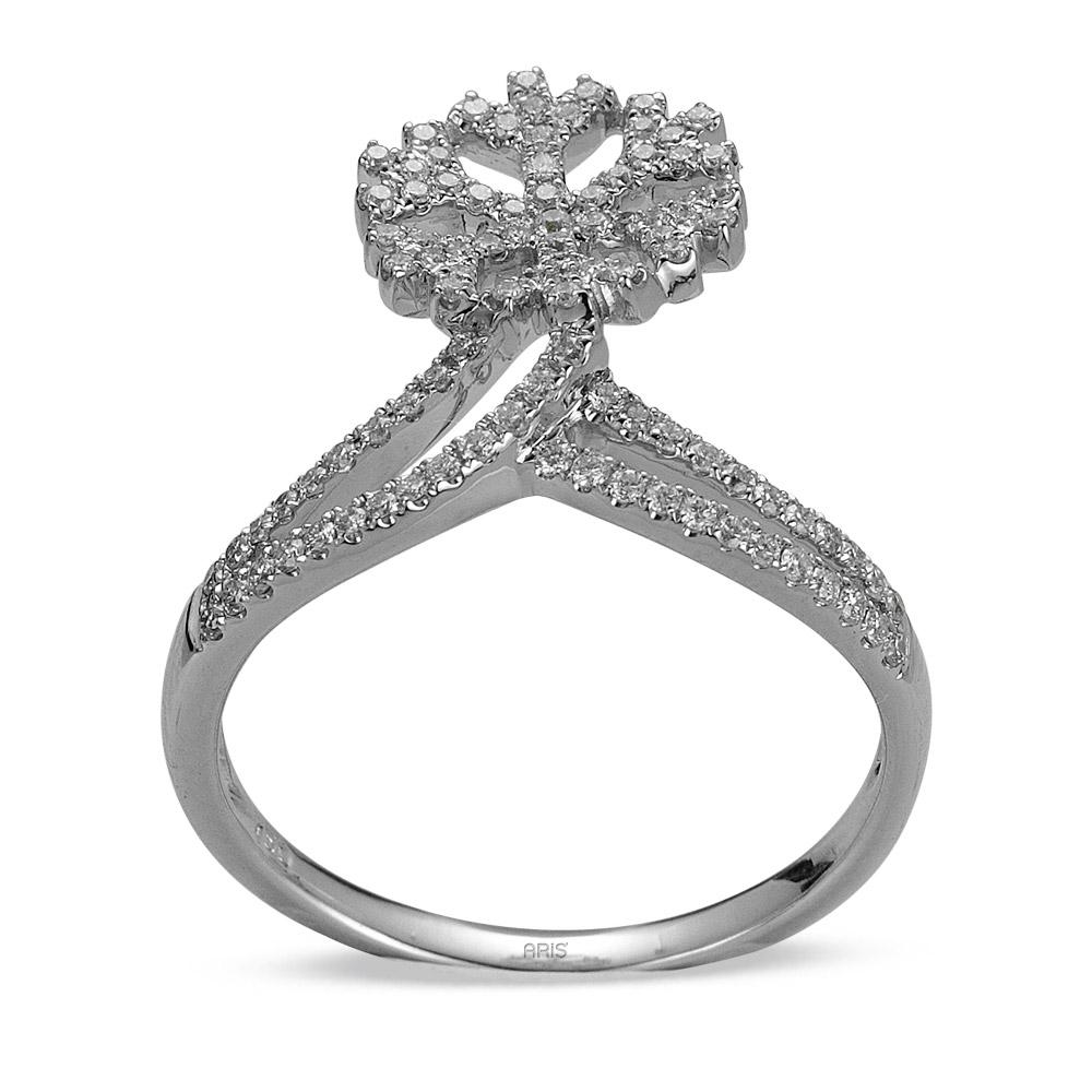 0,45 ct Diamant Schneeflocke Ring