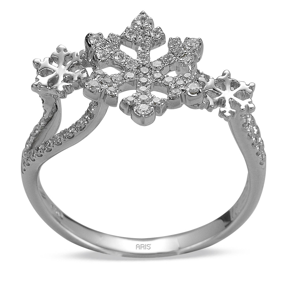 0,35 ct Diamant Schneeflocke Ring