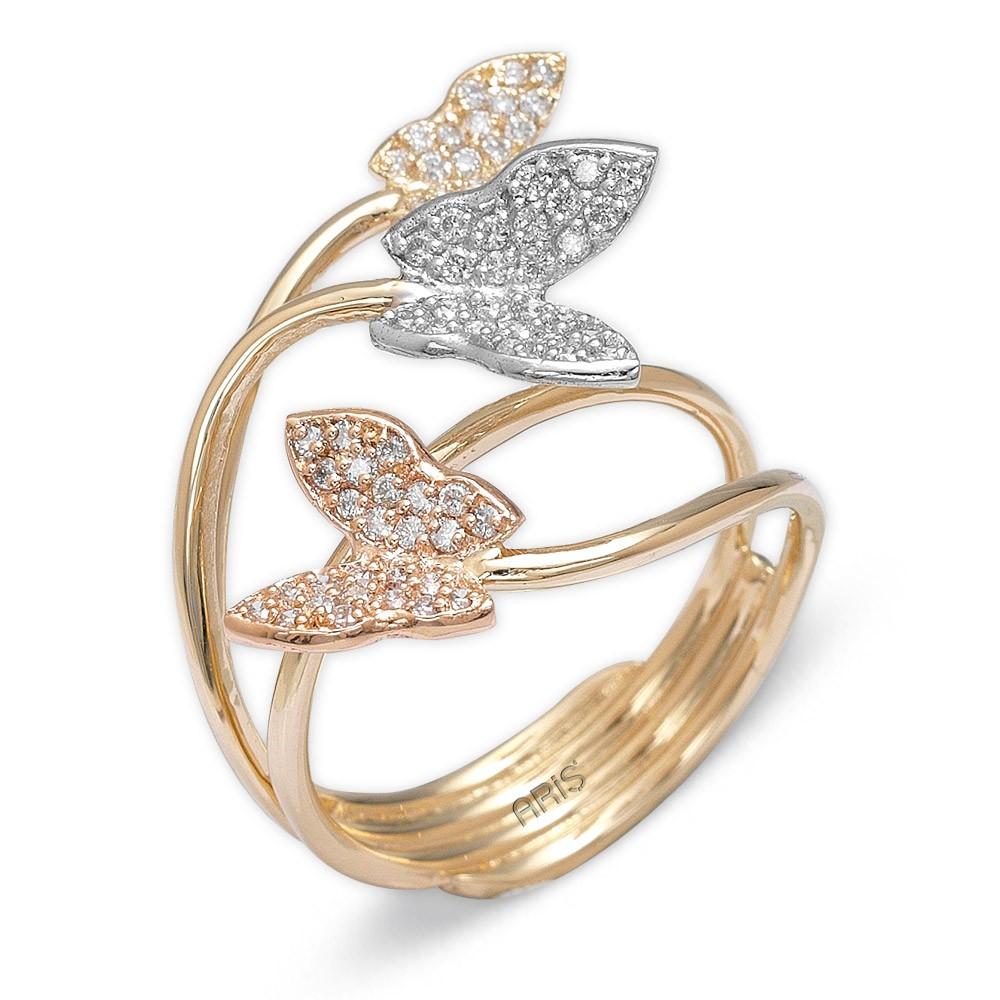 0,44 ct Diamant Schmetterling Ring
