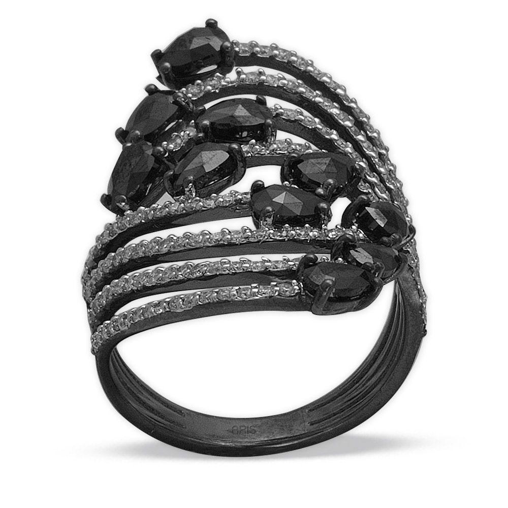 1,94 ct Schwarz Weiß Diamant Ring