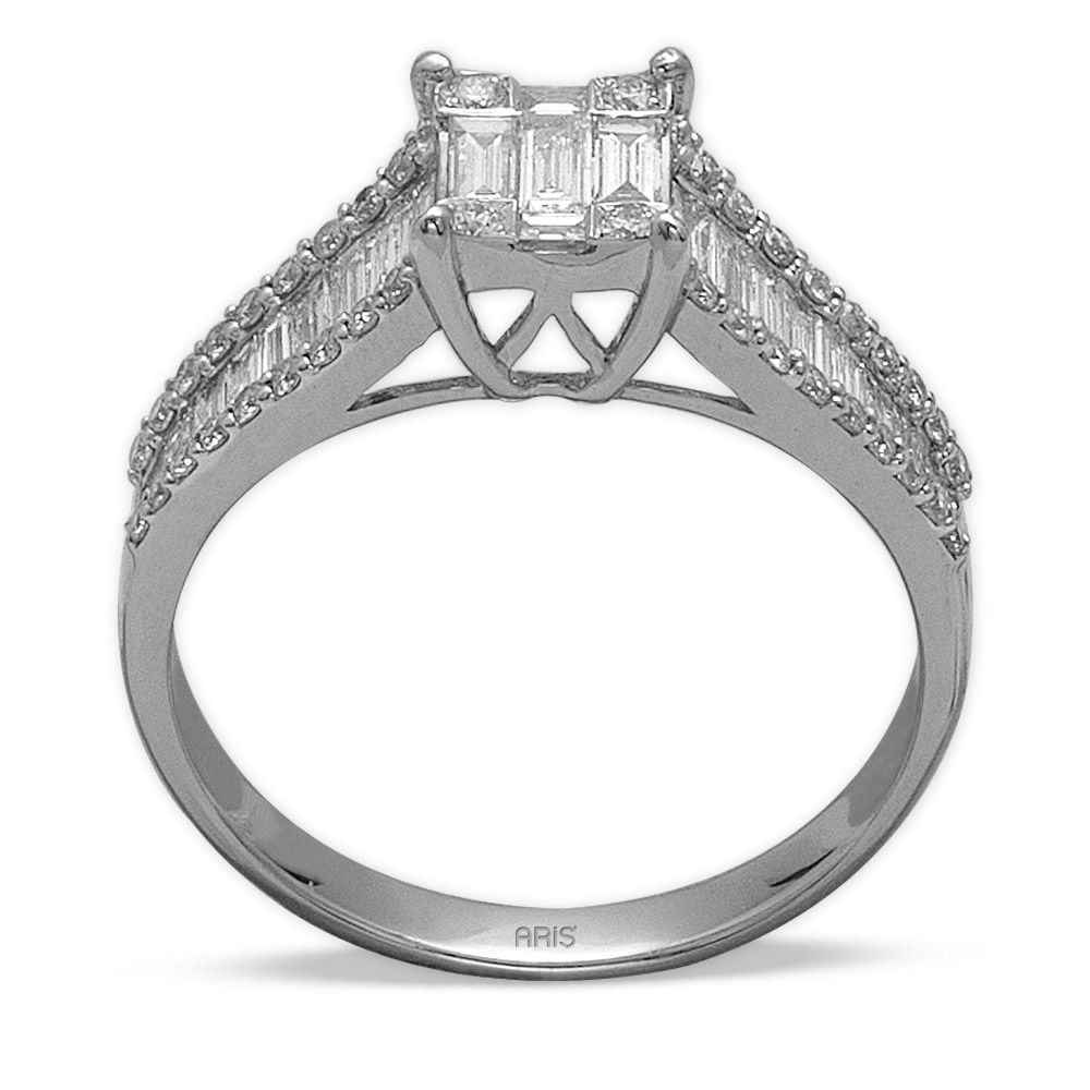 1,20 ct Diamant Fantasie  Baguette  Ring