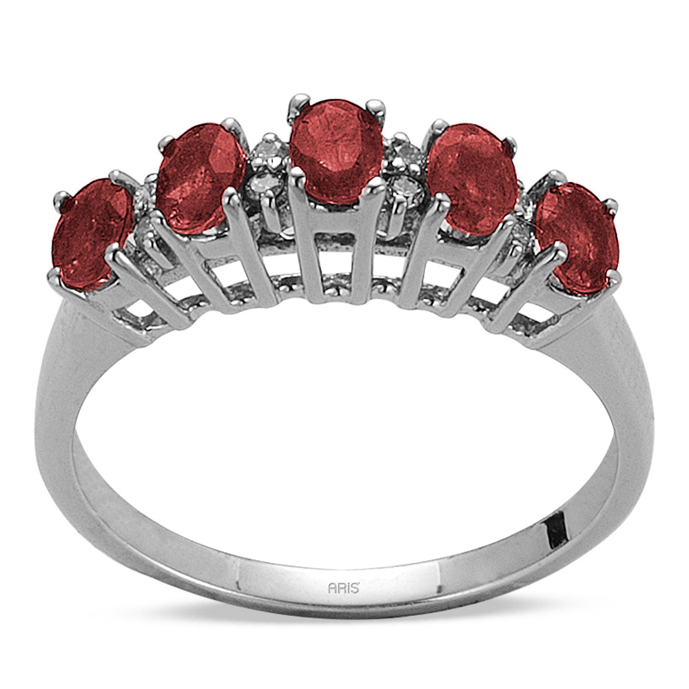 0,98 ct Rubin Diamant Ring