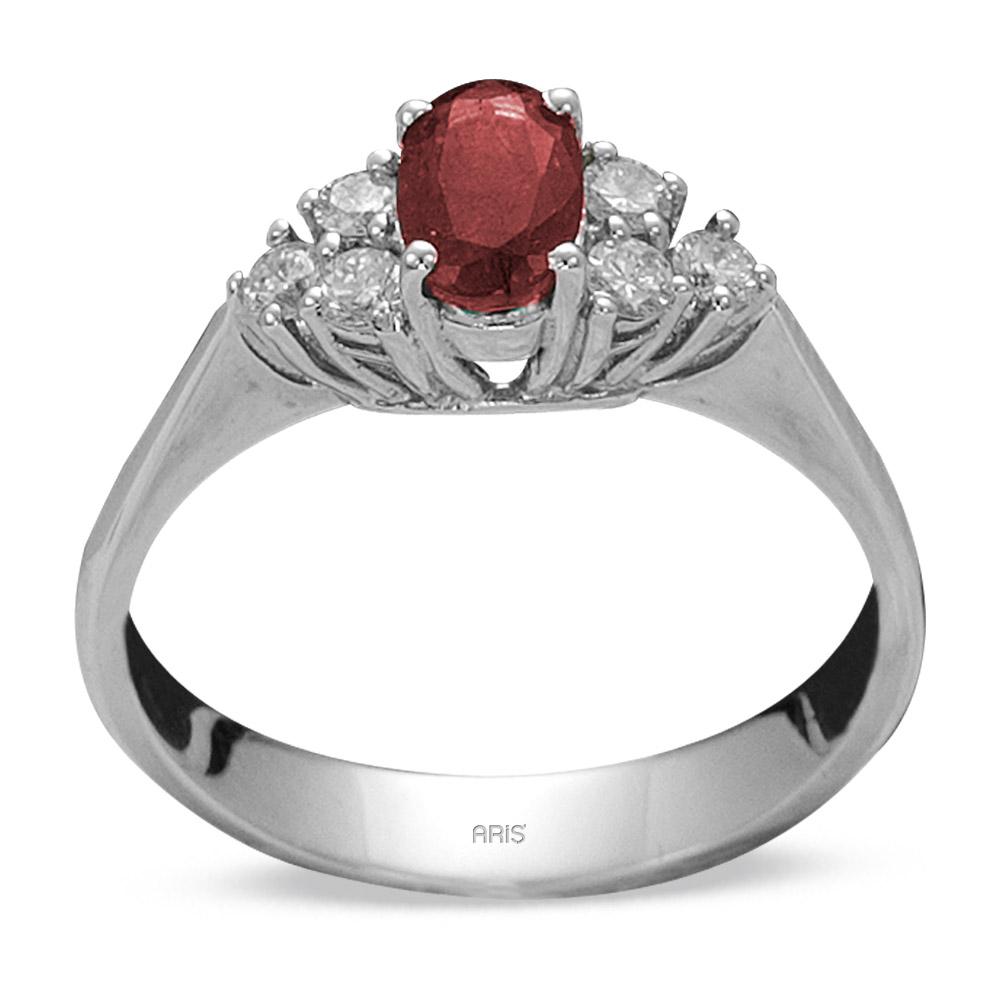0,57 ct  Rubin Ring