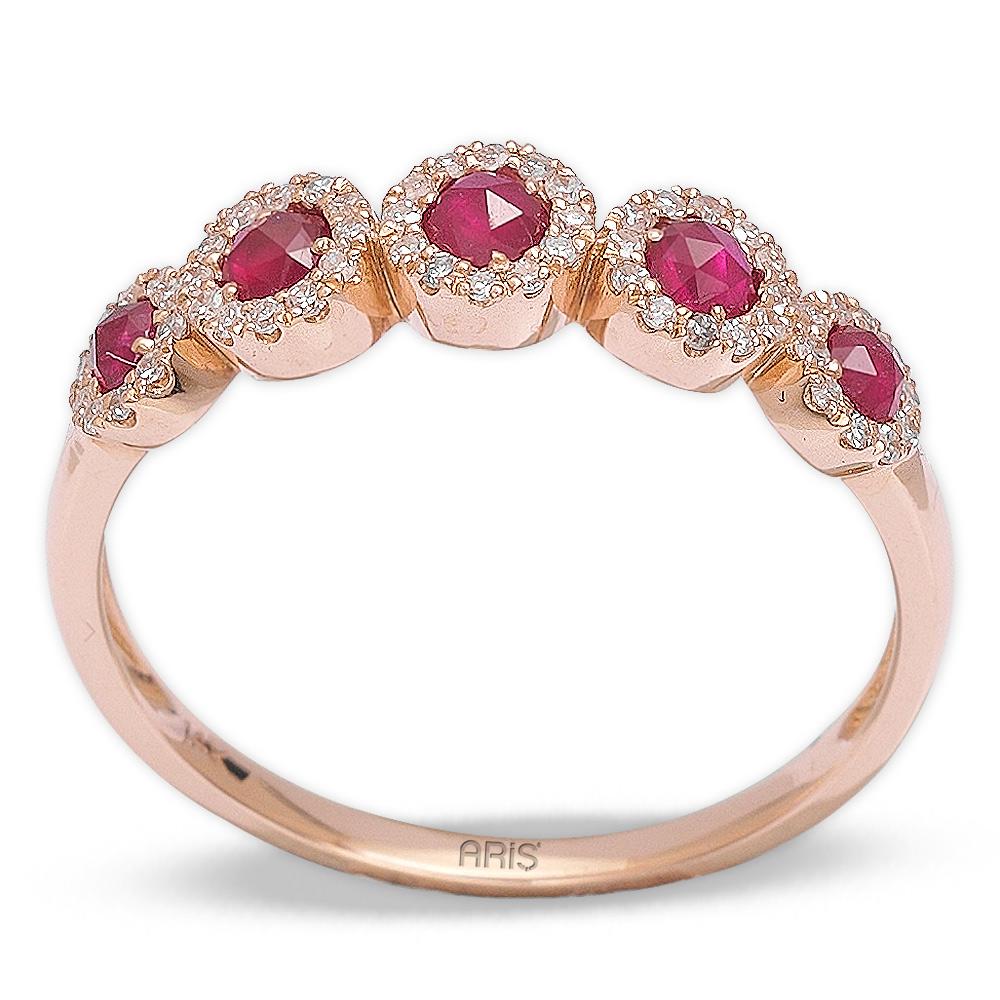 0,32 ct  Rubin Ring