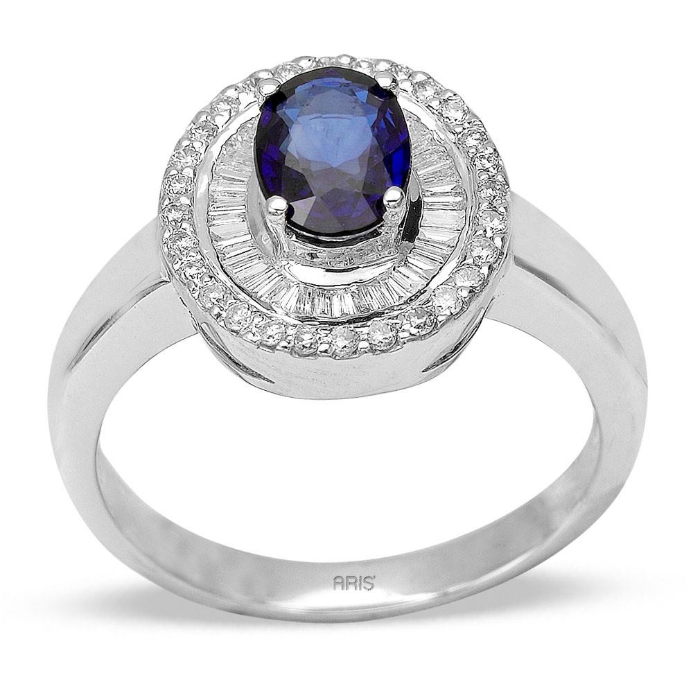 0,86 ct  Saphir Ring
