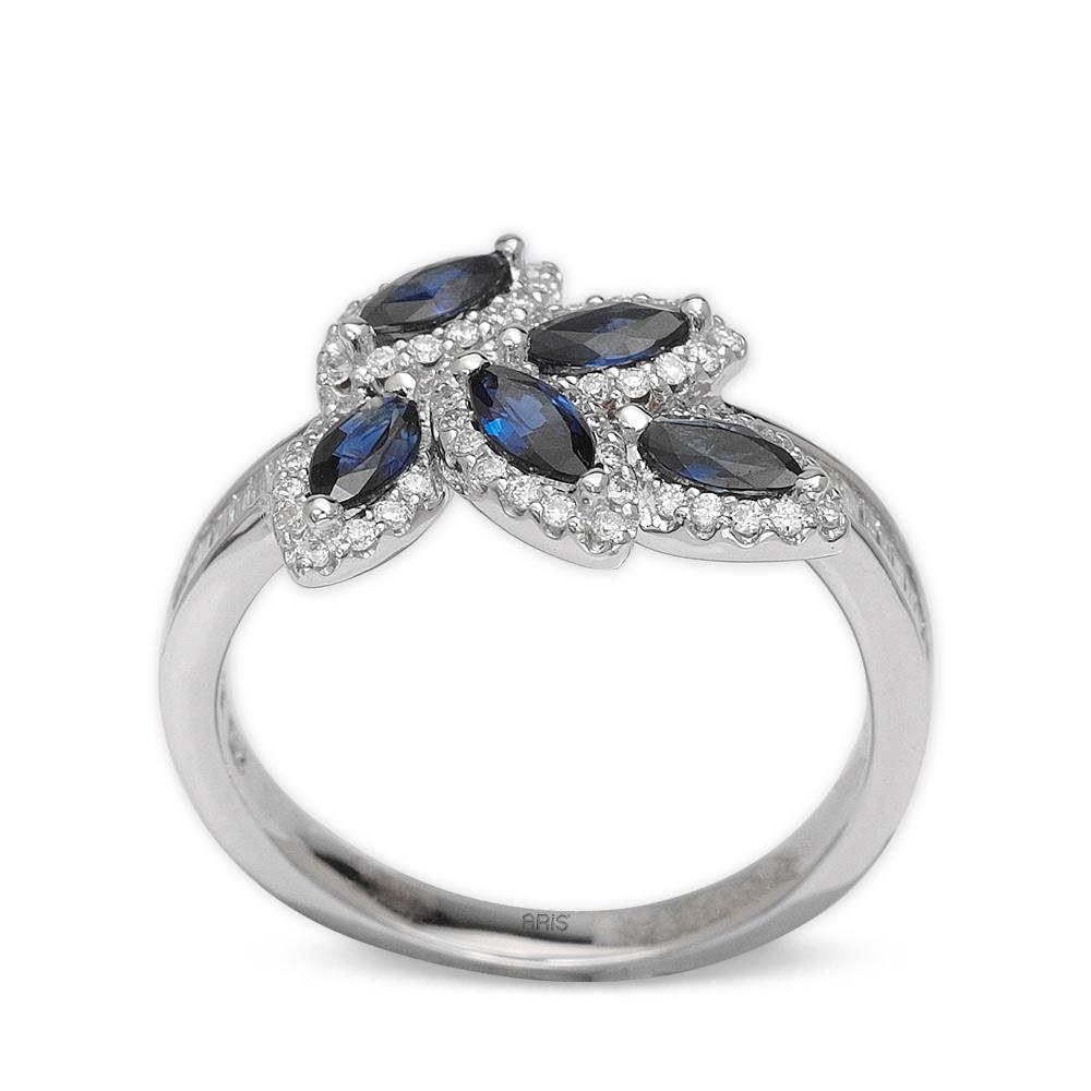 0,83 ct  Saphir Ring