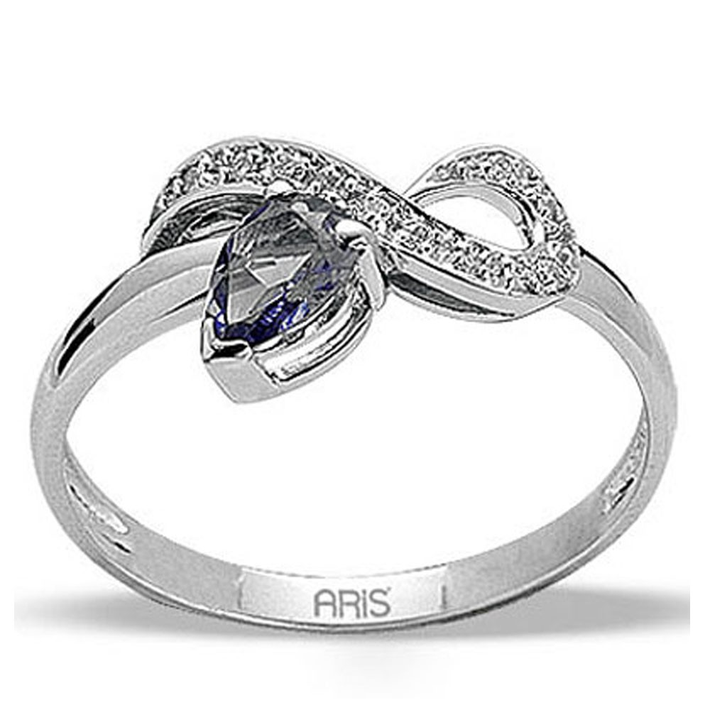 0,41 ct  Saphir Ring