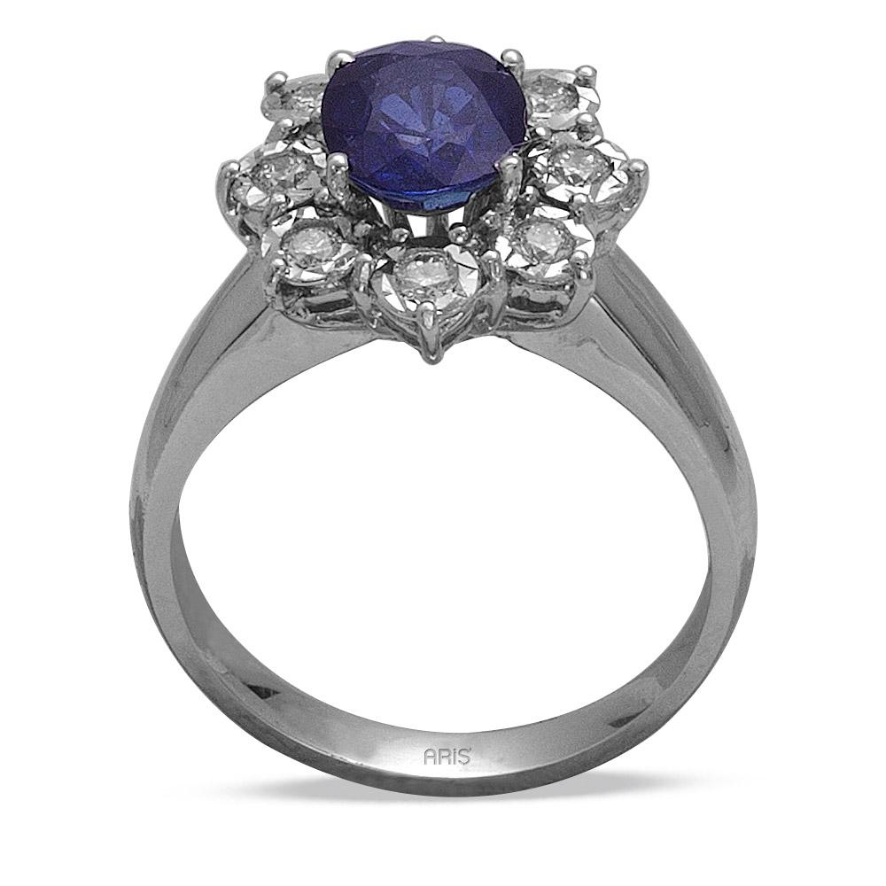 1,70 ct  Saphir Ring