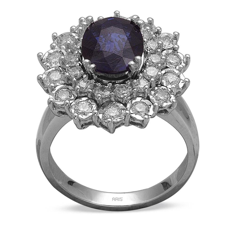 2,35 ct  Saphir Ring