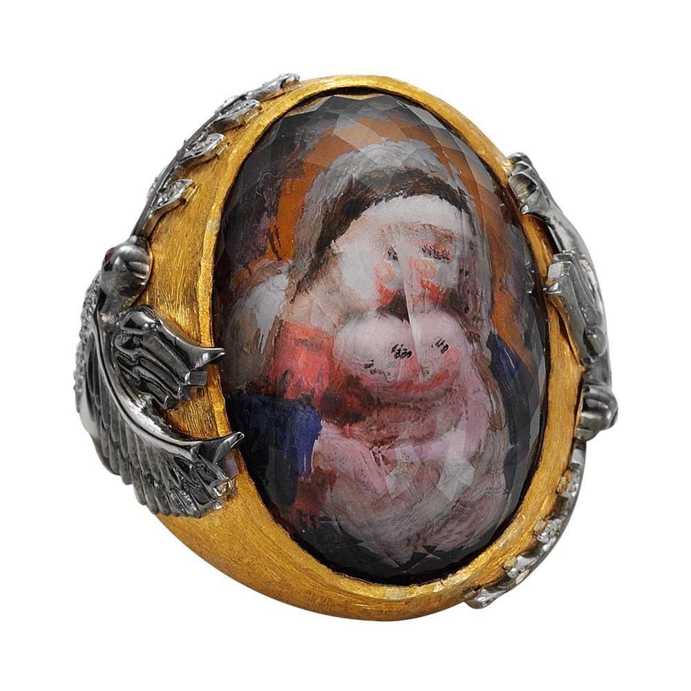 48,33 ct Farbedelstein Diamant Ring