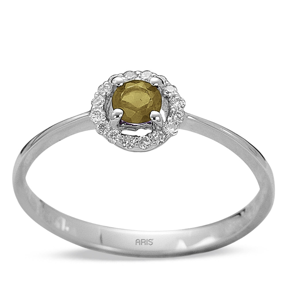 0,27 ct Citrin Diamant Ring