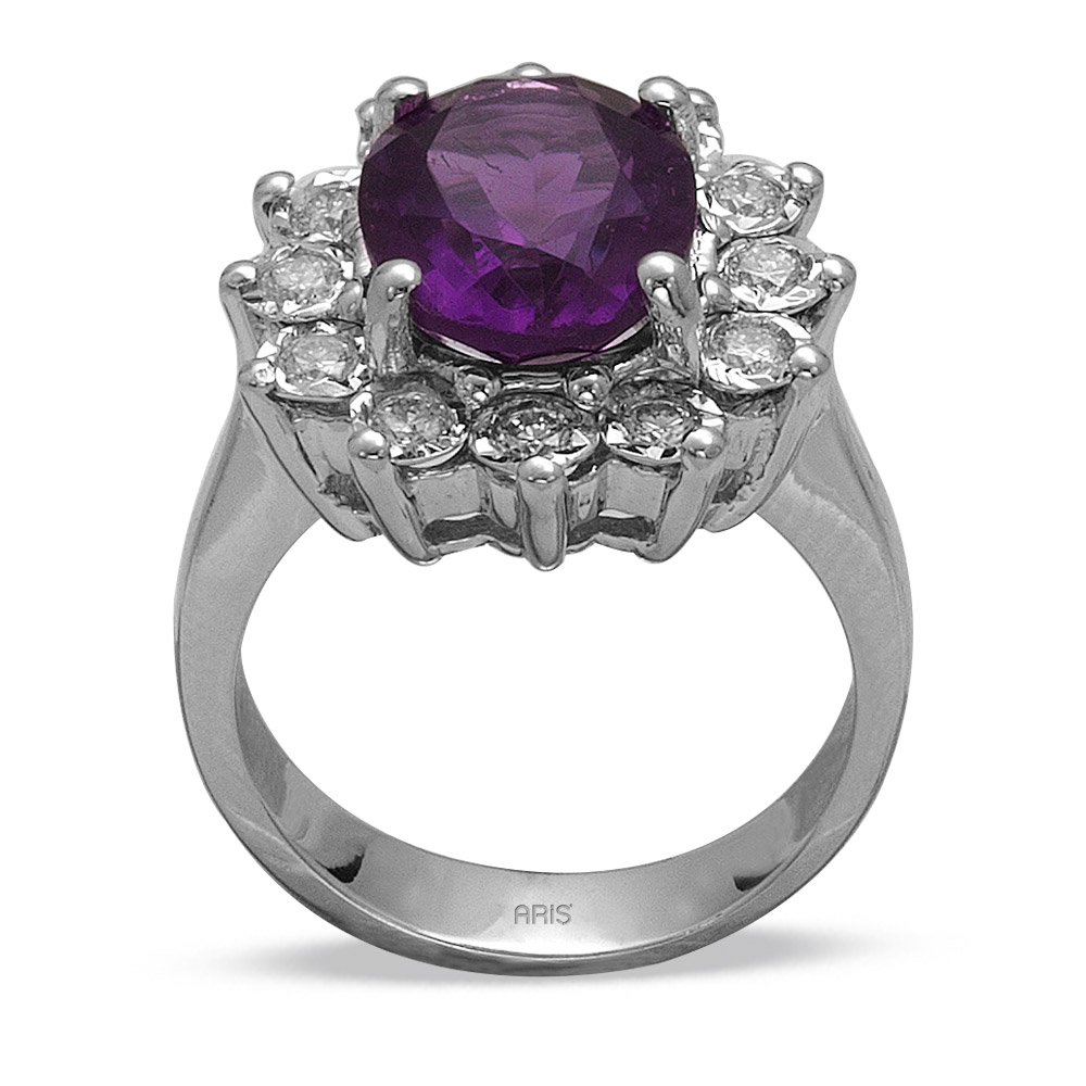 3,27 ct  Amethyst Ring