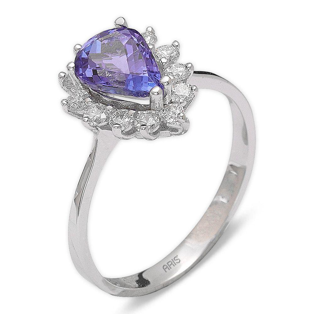 1,67 ct Tansanit Diamant Ring