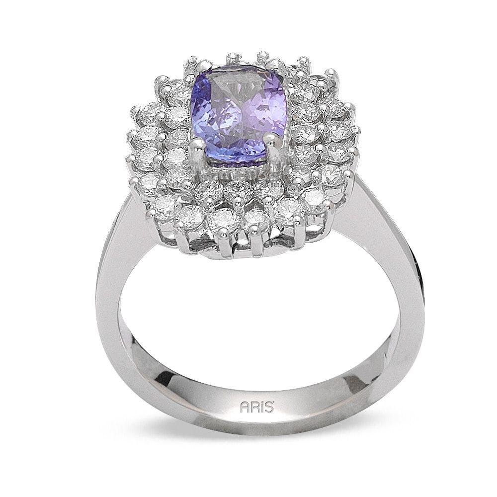 1,26 ct Tansanit Diamant Ring