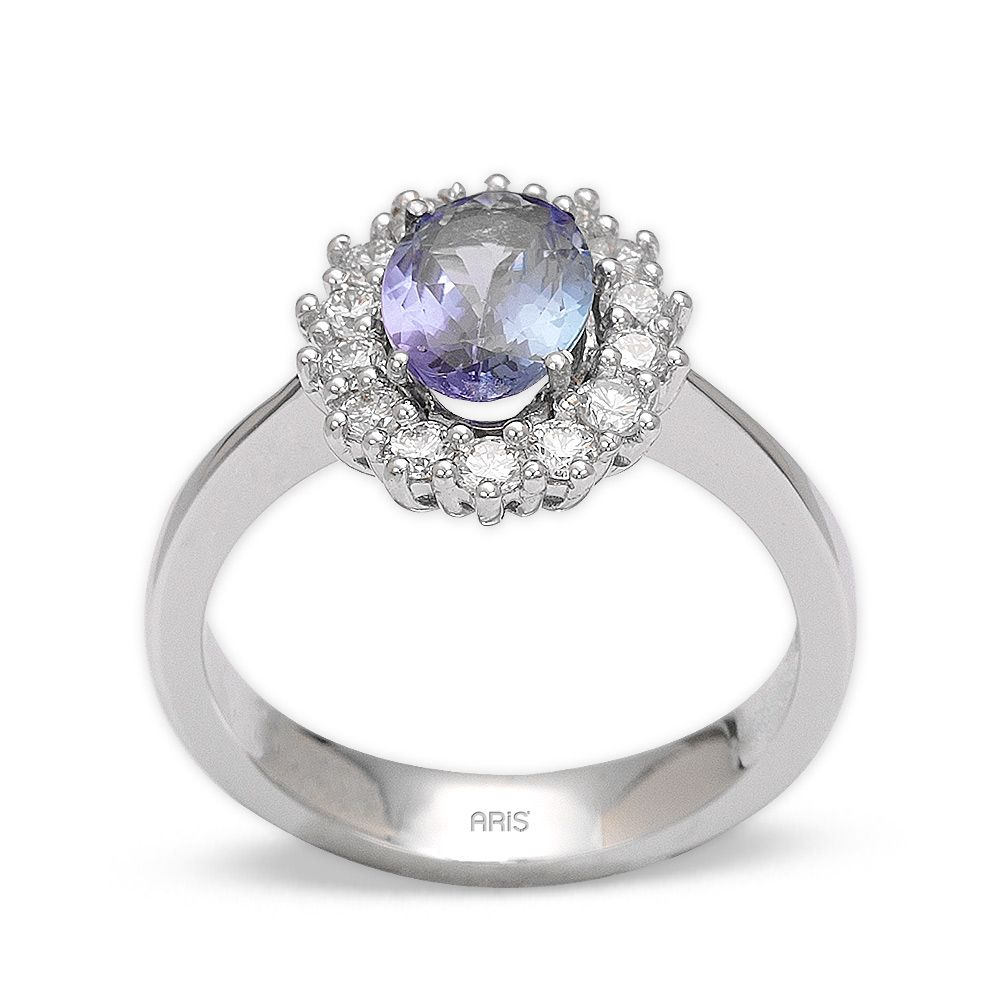 0,94 ct Tansanit Diamant Ring