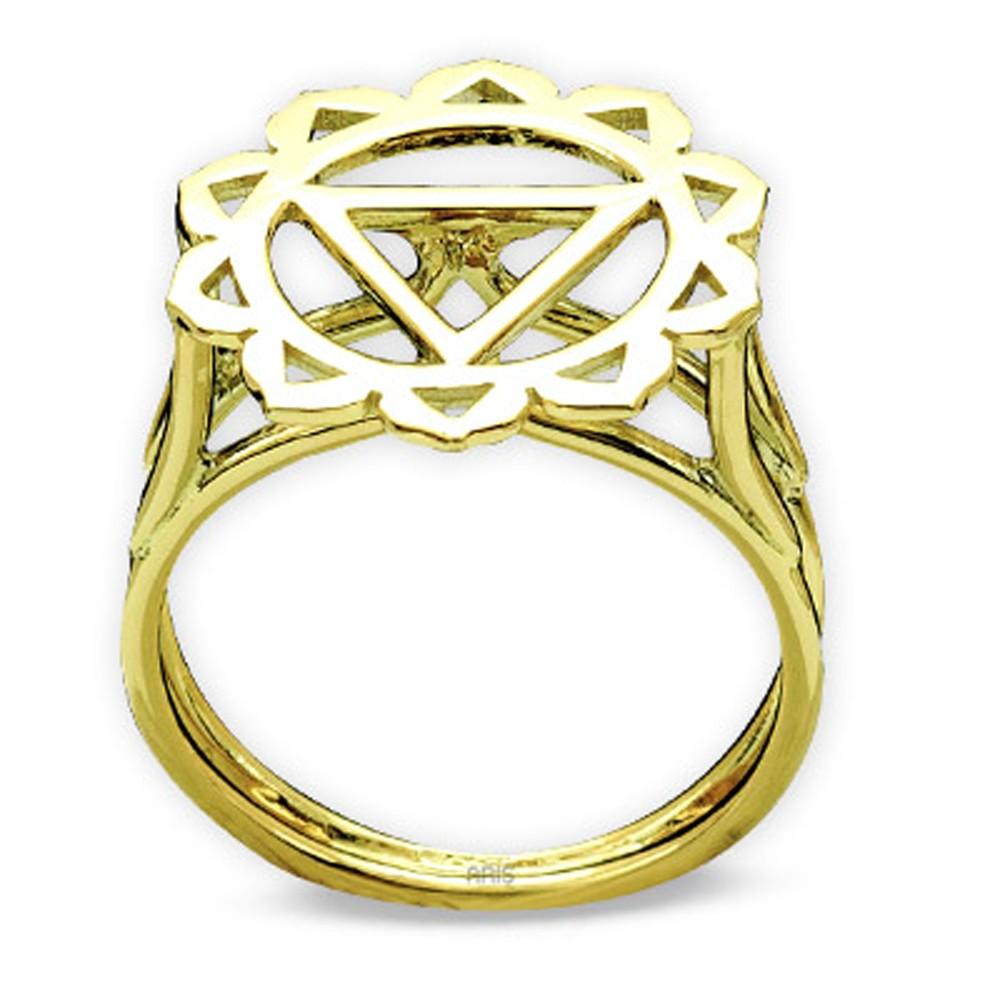 Das Nabelchackra 585er Gold  Ring