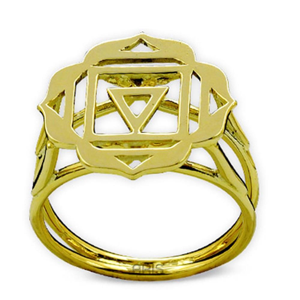 585er Gelbgold Wurzelchakra Ring