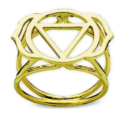 585er Gelbgold Chakra Ring