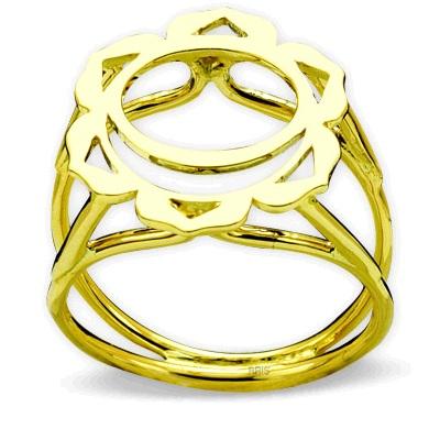 585er Glbgold Sakralchakra Ring