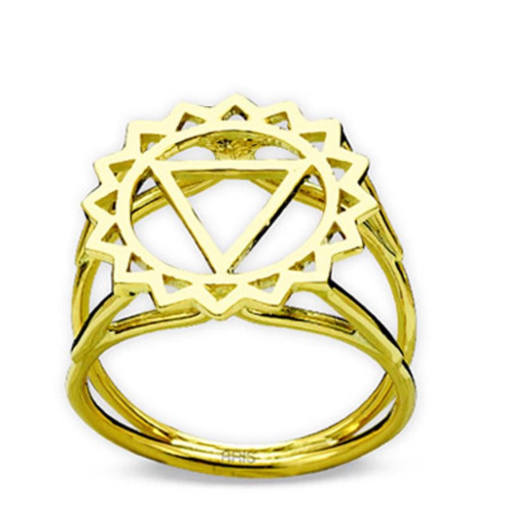 585er Gerlbgold Kehlchakra Ring