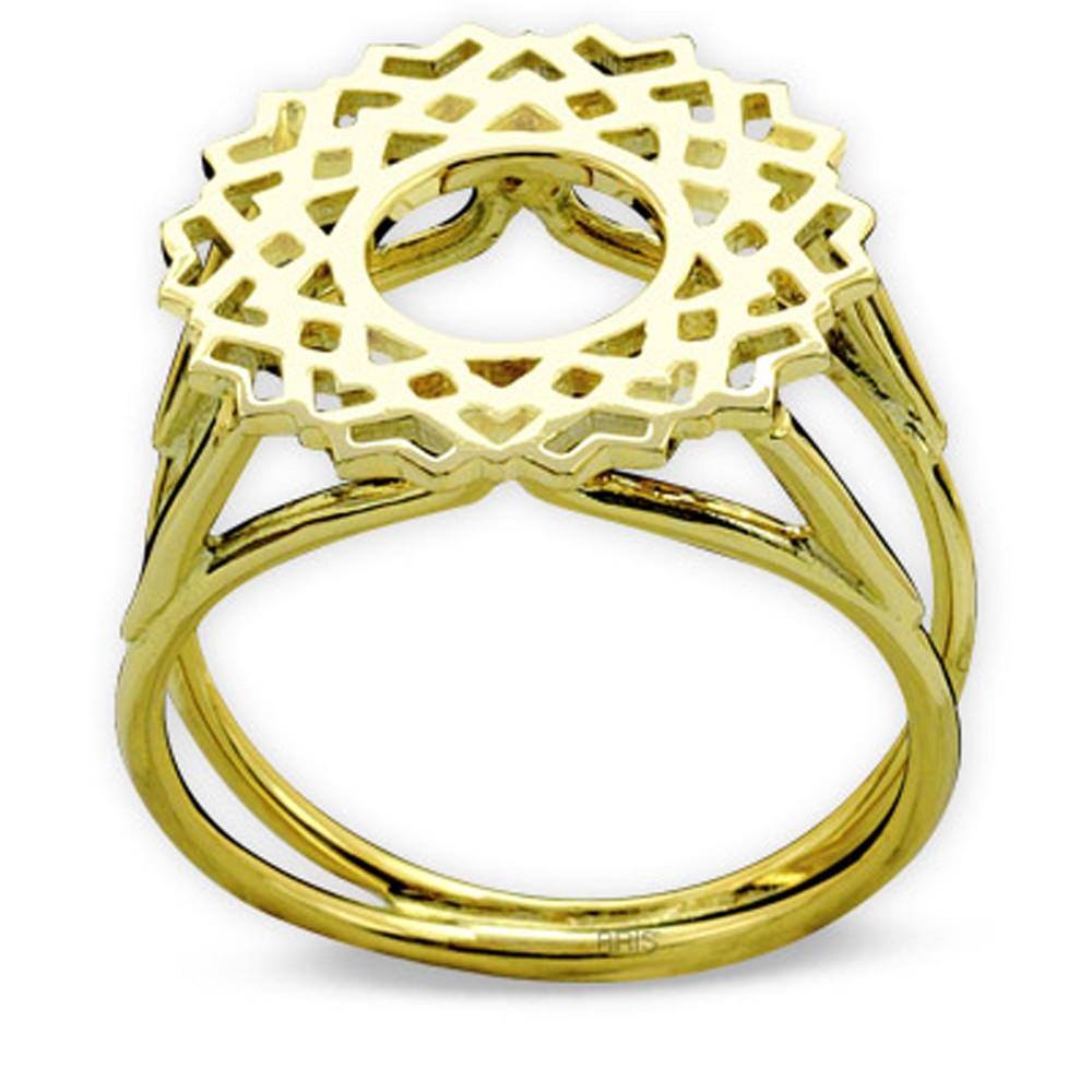 585er Gelbgold Kronenchackra Ring