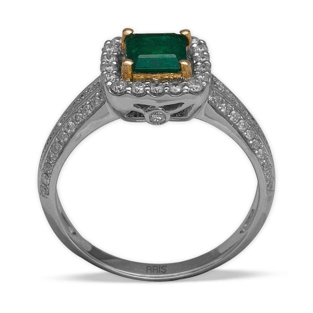 0,68 ct Smaragd Ring