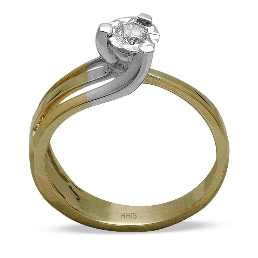 0,14 ct  Diamant Solitärring