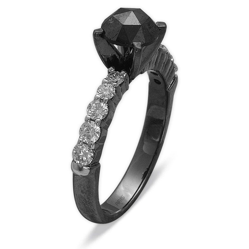 1,72 ct Schwarz Weiß Diamant Ring